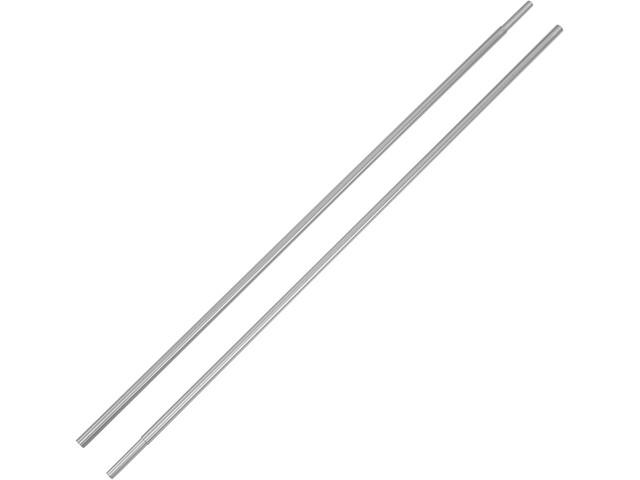 CAMPZ Palo in alluminio per tenda con tasselli 9.5mm, set di 2, argento